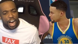 THIS IS IMPOSSIBLE! VS STEPHEN CURRY AND KD ON HALL OF FAME! WTF! NBA 2k17 MyCareer