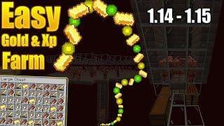 Minecraft ZOMBIE pigman XP/GOLD farm 1.14 - 1.15 EASY to make
