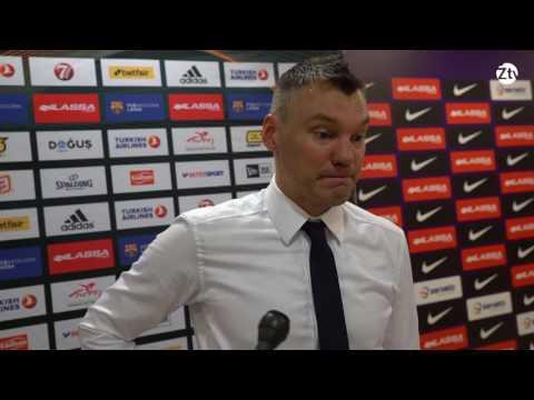 Š.Jasikevičiaus komentaras po rungtynių Barselonoje