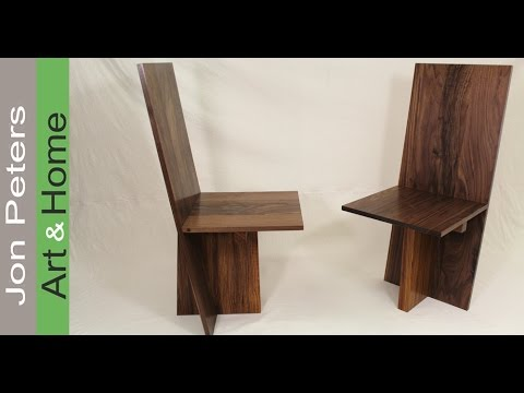 How To Build A Set Of Modern Chairs   Solid Walnut U0026 Zebrawood