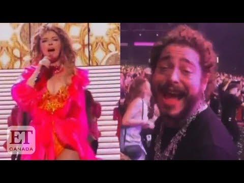 Post Malone Sings Along To Shania Twain At 2019 AMAs