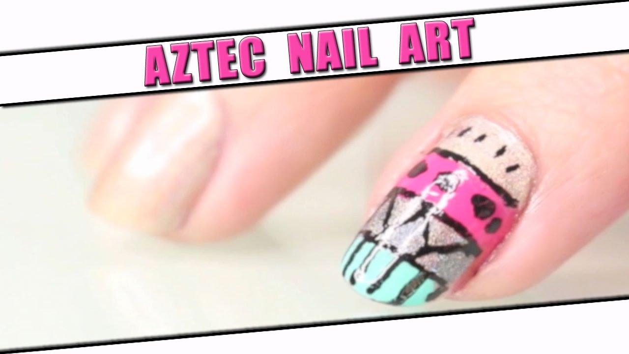 Tuto Nail Art : Aztec Nails , Manucure facile et rapide / easy manicure - YouTube