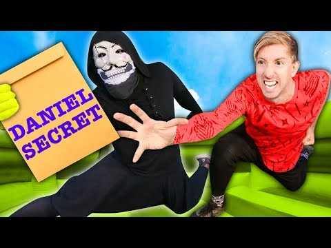 spy-ninjas-vs-hacker-pz9!-competing-in-world's-largest-obstacle-course-bounce-house-to-reveal-daniel