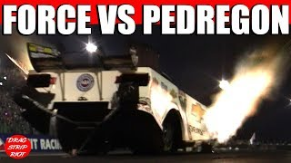 2015 Night Under Fire Nitro Funny Cars John Force Pedregon Drag Racing Videos