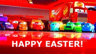 Disney Cars Easter Holiday Edition Micro Drifters 2013 Pixar Toys Mater Chick Hicks Dinoco McQueen!