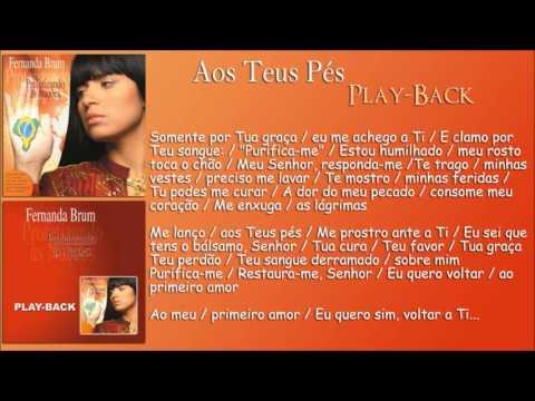 Aos Teus Pés [Playback] Fernanda Brum - CD