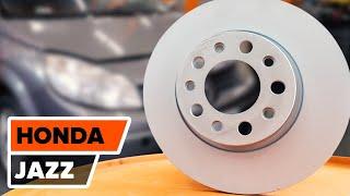 Kako zamenjati sprednji zavorni diski, sprednji zavorne ploščice na HONDA JAZZ 1 [Vodič]
