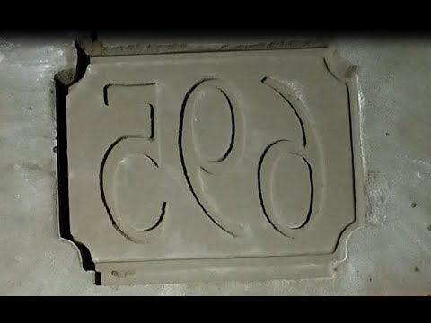 Molding the House Number Plaque