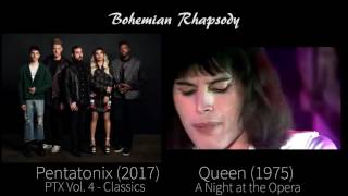 Download Mp3 Bohemian Rhapsody - Queen / Pentatonix  Side By Side