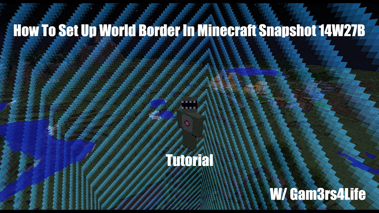 How To Set Up World Border In Minecraft 18 Youtube