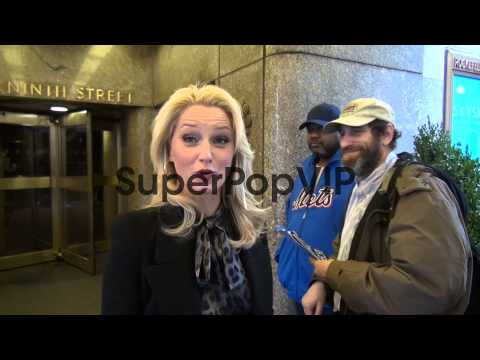 Katherine LaNasa  walking to her car outside NBC Studios ...