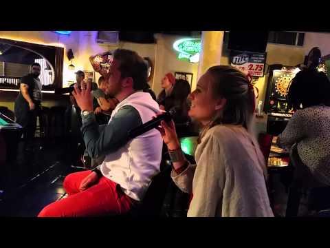 Rob and Emelie karaoke