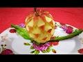 Apple Carving Flower - Fruit art ornament garnish