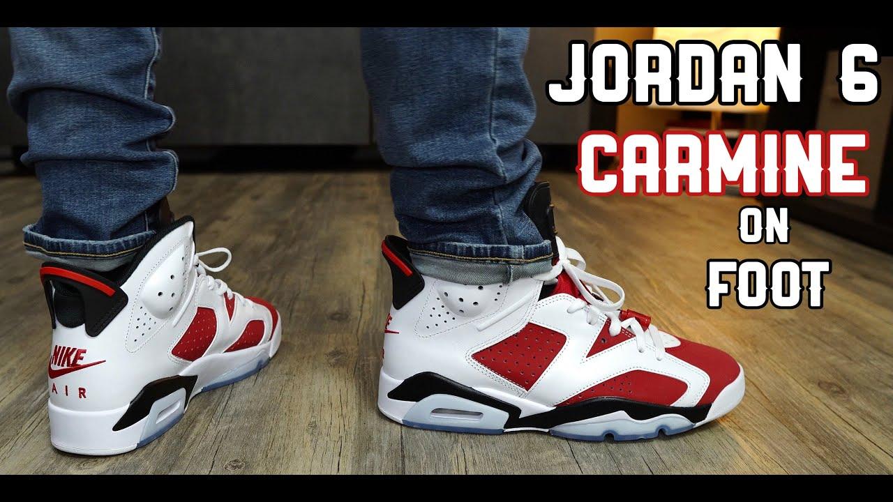 2021 Air Jordan 6 Carmine Review & On Foot!!