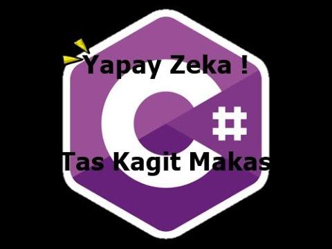 C# ile Yapay Zeka-Taş Kağıt Makas!