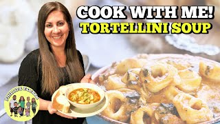 TUSCAN TORTELLINI SOUP with ITALIAN SAUSAGE    COSORI MULTI-COOKER RECIPE  COOK WITH ME