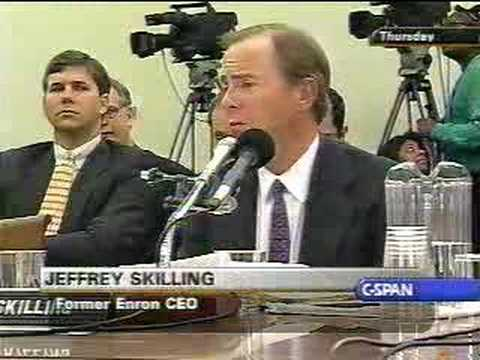 Enron's Skilling Answers Markey at Hearing; Eyes Roll