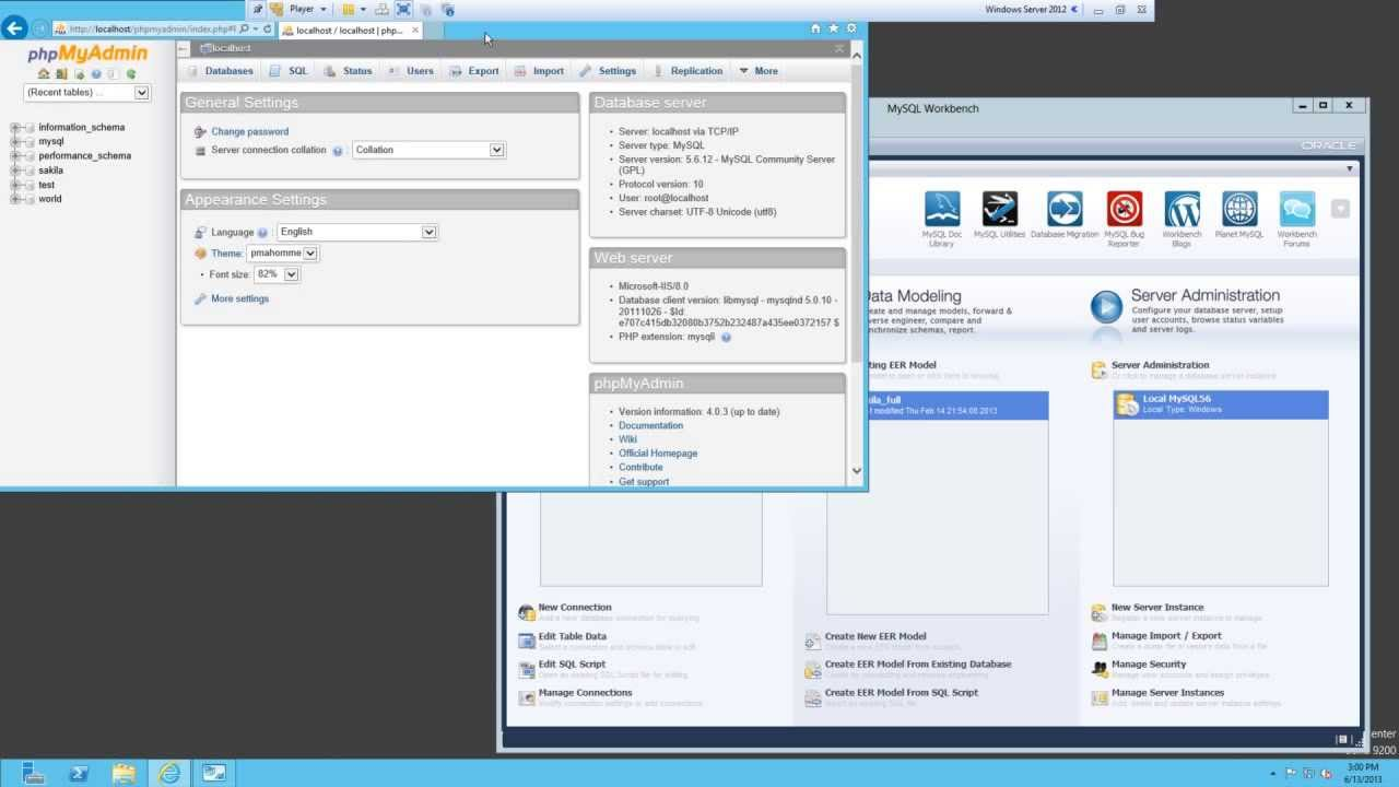 install mysql windows server 2016