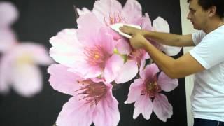 Поклейка фотообоев(Сайт ТМ Арт-обои http://art-oboi.com.ua ТМ