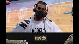 LaMarcus Aldridge Talks To Chris Webber After His Nets Debut | NBA On TNT