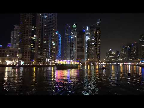 Dubai Beaches Plus Marina At Night  – 4K UHD