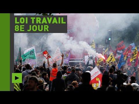 Les opposants à la loi travail de nouveau mobilisés dans les rues de Paris (Direct du 27.05.16)