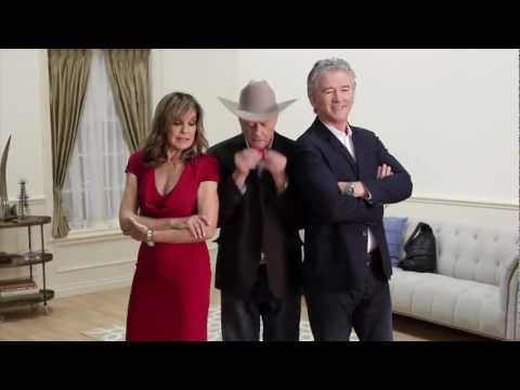Larry Hagman, Linda Gray & Patrick Duffy