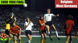EURO 1980 Final Belgium vs West Germany Highlights