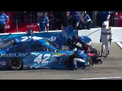 Early engine trouble for Larson at Kansas puts playoff advancement at risk