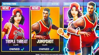 "NEW ""Jumpshot + Triple Threat"" SKIN GAMEPLAY in Fortnite! (New Fortnite Battle Royale Update)"