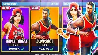 """¡NUEVO JUEGO DE PIEL """"Jumpshot + Triple Threat"""" en Fortnite! (Nueva actualización de Fortnite Battle Royale)"""