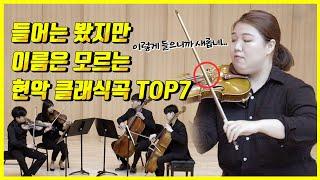 많이 들어봤지만 제목은 모르는 현악클래식 곡 탑7(feat한예종&서울대)
