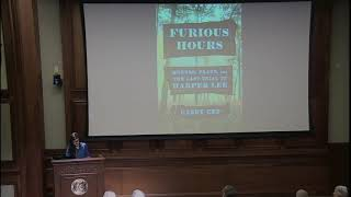 """""""Furious Hours: Murder, Fraud, and the Last Trial of Harper Lee"""" by Casey Cep."""