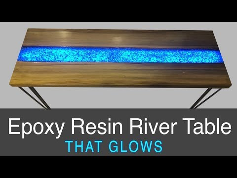 Epoxy Resin River Table that GLOWS [DIY Project Plans]