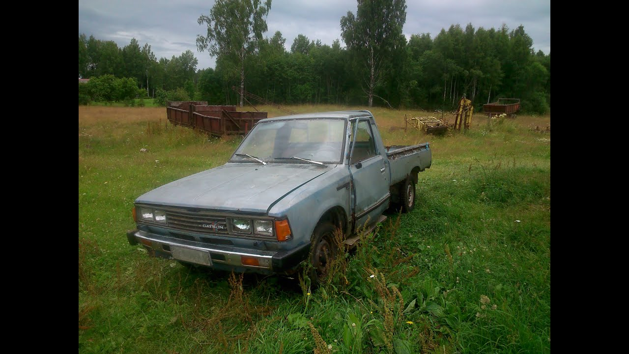 1982 datsun 720 pickup sel engine driving youtube