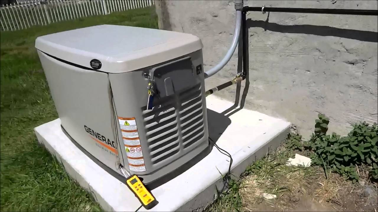 Whole House Generator Installation : Generac whole house generator install part final youtube