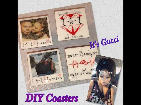 DIY Coasters From Artwork To Epoxy/GREAT valentine gifts/CUSTOM GIFT