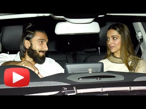 Deepika Padukone And Ranveer Singh BLUSH As They Arrive Together At Karan Johar's Party