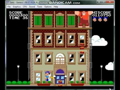 Let's Play Fix-It Felix JR on Gens11b SEGA Genesis Emulator Download Link