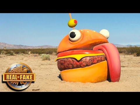 GIANT FORTNITE BURGER IN REAL LIFE  - real or fake?