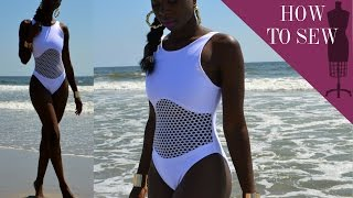 How To Sew A One Piece Mesh Bathing Suit