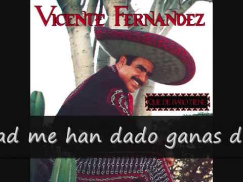 Vicente Fernandez Aca Entre Nos (letra)