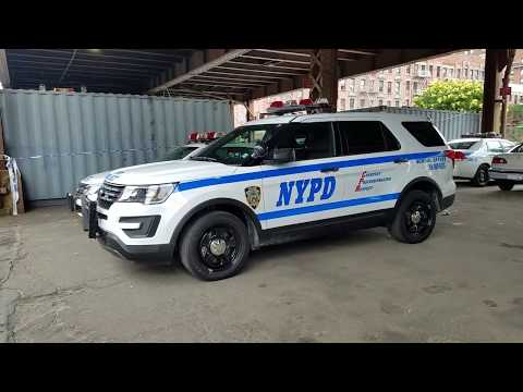 Brand New NYPD School Safety Division Task Force Manhattan Ford Interceptor Parked In Harlem