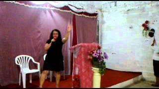 Cantora Vanda Brasil - Ass.de Deus Cristo Vive - Novo Barroso - Parte 1