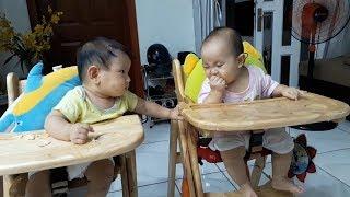 Twin Babies Eating While Sleeping | Funny Babies Compilation | MonKi Twin