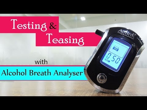 ALC Smart Digital LCD Breath Analyzer Alcohol Tester | AT6000 Review | Check Alcohol Levels