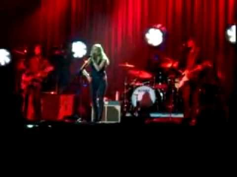 Classic Red Velour Drapes for Sheryl Crow Concert