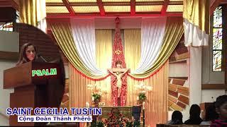 05 19 2018  Reading & Psalm Pentecost Vigil Mass Cộng Đoàn Saint Cecilia Tustin California