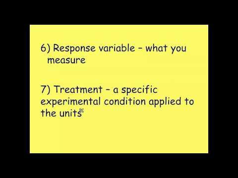 AP Statistics: Basics of Experimental Design and Terms