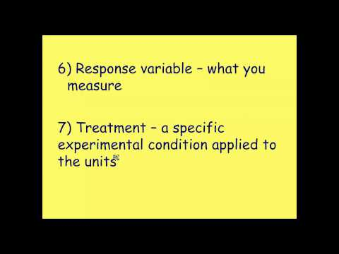 AP Statistics: Basics of Experimental Design and Terms